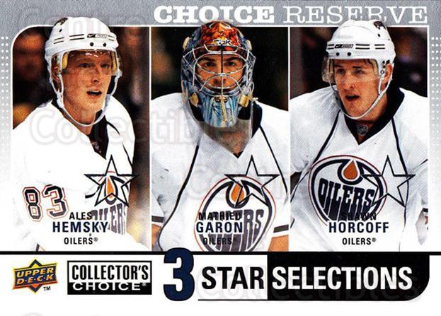 2008-09 Collectors Choice Reserve Silver #262 Ales Hemsky, Mathieu Garon, Shawn Horcoff<br/>2 In Stock - $2.00 each - <a href=https://centericecollectibles.foxycart.com/cart?name=2008-09%20Collectors%20Choice%20Reserve%20Silver%20%23262%20Ales%20Hemsky,%20Ma...&quantity_max=2&price=$2.00&code=525912 class=foxycart> Buy it now! </a>