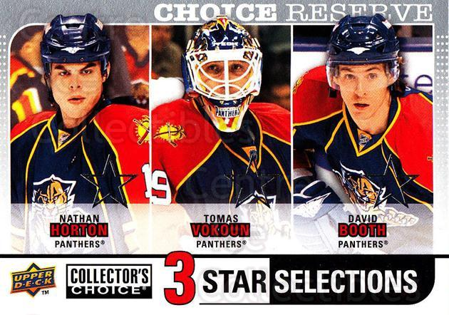 2008-09 Collectors Choice Reserve Silver #263 Nathan Horton, Tomas Vokoun, David Booth<br/>2 In Stock - $2.00 each - <a href=https://centericecollectibles.foxycart.com/cart?name=2008-09%20Collectors%20Choice%20Reserve%20Silver%20%23263%20Nathan%20Horton,%20...&quantity_max=2&price=$2.00&code=525913 class=foxycart> Buy it now! </a>