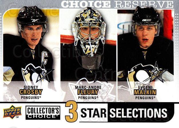 2008-09 Collectors Choice Reserve Silver #274 Sidney Crosby, Marc-Andre Fleury, Evgeni Malkin<br/>1 In Stock - $5.00 each - <a href=https://centericecollectibles.foxycart.com/cart?name=2008-09%20Collectors%20Choice%20Reserve%20Silver%20%23274%20Sidney%20Crosby,%20...&quantity_max=1&price=$5.00&code=525924 class=foxycart> Buy it now! </a>