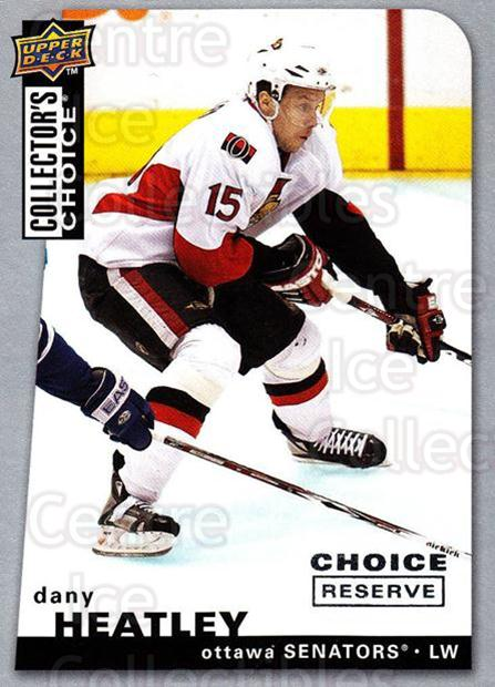 2008-09 Collectors Choice Reserve Silver #39 Dany Heatley<br/>2 In Stock - $2.00 each - <a href=https://centericecollectibles.foxycart.com/cart?name=2008-09%20Collectors%20Choice%20Reserve%20Silver%20%2339%20Dany%20Heatley...&quantity_max=2&price=$2.00&code=525989 class=foxycart> Buy it now! </a>