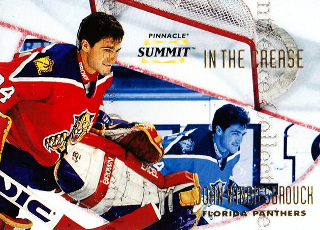 1996-97 Summit In The Crease #10 John Vanbiesbrouck<br/>2 In Stock - $3.00 each - <a href=https://centericecollectibles.foxycart.com/cart?name=1996-97%20Summit%20In%20The%20Crease%20%2310%20John%20Vanbiesbro...&quantity_max=2&price=$3.00&code=52686 class=foxycart> Buy it now! </a>