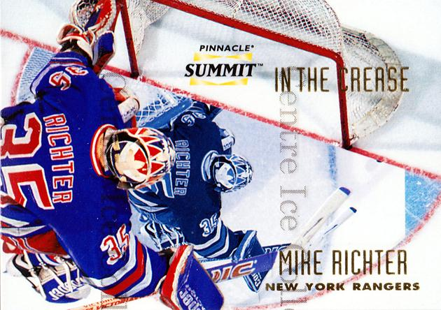 1996-97 Summit In The Crease #2 Mike Richter<br/>5 In Stock - $3.00 each - <a href=https://centericecollectibles.foxycart.com/cart?name=1996-97%20Summit%20In%20The%20Crease%20%232%20Mike%20Richter...&quantity_max=5&price=$3.00&code=52689 class=foxycart> Buy it now! </a>
