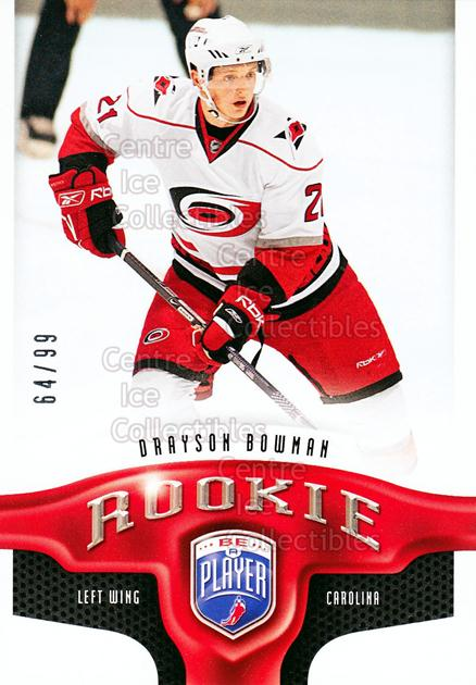 2009-10 Be A Player #206 Drayson Bowman<br/>1 In Stock - $5.00 each - <a href=https://centericecollectibles.foxycart.com/cart?name=2009-10%20Be%20A%20Player%20%23206%20Drayson%20Bowman...&price=$5.00&code=529627 class=foxycart> Buy it now! </a>
