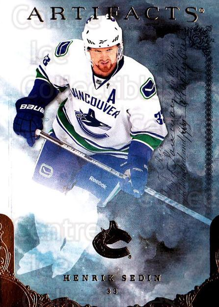 2010-11 UD Artifacts #58 Henrik Sedin<br/>1 In Stock - $1.00 each - <a href=https://centericecollectibles.foxycart.com/cart?name=2010-11%20UD%20Artifacts%20%2358%20Henrik%20Sedin...&quantity_max=1&price=$1.00&code=530389 class=foxycart> Buy it now! </a>