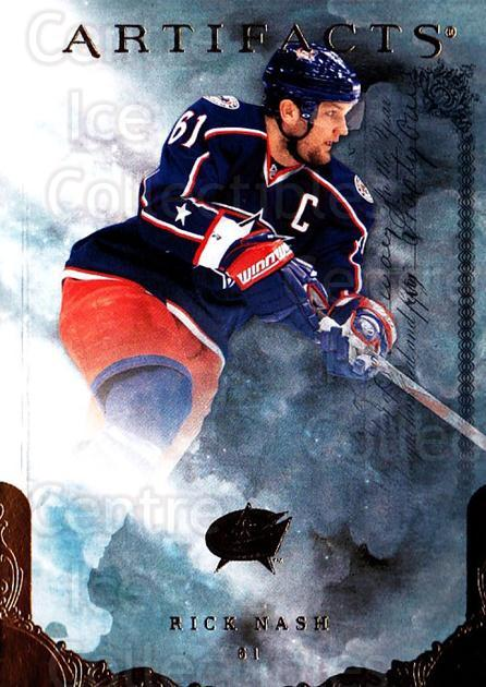 2010-11 UD Artifacts #69 Rick Nash<br/>1 In Stock - $1.00 each - <a href=https://centericecollectibles.foxycart.com/cart?name=2010-11%20UD%20Artifacts%20%2369%20Rick%20Nash...&quantity_max=1&price=$1.00&code=530400 class=foxycart> Buy it now! </a>