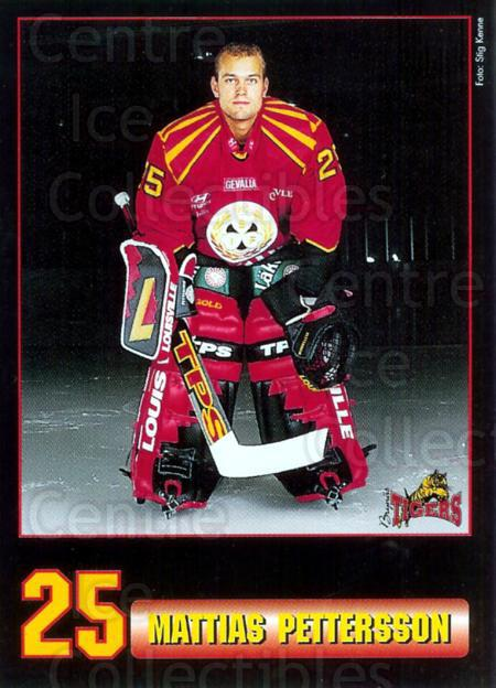 1996-97 Swedish Brynas IF Tigers #2 Mattias Pettersson<br/>5 In Stock - $3.00 each - <a href=https://centericecollectibles.foxycart.com/cart?name=1996-97%20Swedish%20Brynas%20IF%20Tigers%20%232%20Mattias%20Petters...&quantity_max=5&price=$3.00&code=53153 class=foxycart> Buy it now! </a>
