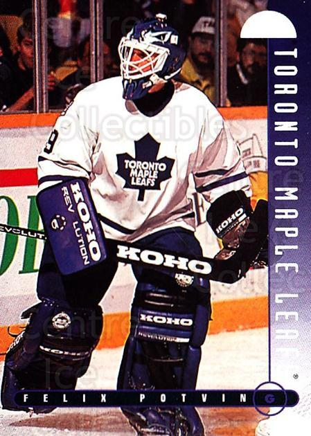 1995-96 Leaf #160 Felix Potvin<br/>1 In Stock - $1.00 each - <a href=https://centericecollectibles.foxycart.com/cart?name=1995-96%20Leaf%20%23160%20Felix%20Potvin...&quantity_max=1&price=$1.00&code=531681 class=foxycart> Buy it now! </a>