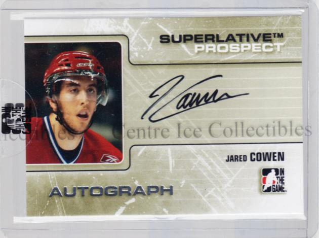 2009-10 ITG Superlative Prospect Auto Silver #PAJC Jared Cowen<br/>1 In Stock - $10.00 each - <a href=https://centericecollectibles.foxycart.com/cart?name=2009-10%20ITG%20Superlative%20Prospect%20Auto%20Silver%20%23PAJC%20Jared%20Cowen...&quantity_max=1&price=$10.00&code=532916 class=foxycart> Buy it now! </a>