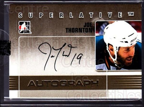 2009-10 ITG Superlative Auto Gold #AJT Joe Thornton<br/>1 In Stock - $30.00 each - <a href=https://centericecollectibles.foxycart.com/cart?name=2009-10%20ITG%20Superlative%20Auto%20Gold%20%23AJT%20Joe%20Thornton...&quantity_max=1&price=$30.00&code=532944 class=foxycart> Buy it now! </a>