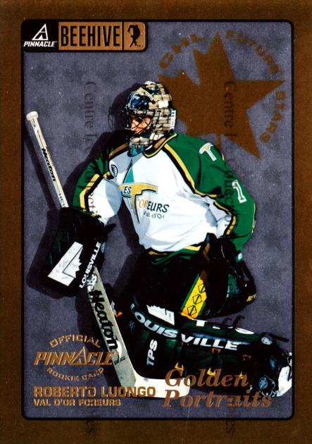 1997-98 Beehive Golden Portraits #69 Roberto Luongo<br/>1 In Stock - $5.00 each - <a href=https://centericecollectibles.foxycart.com/cart?name=1997-98%20Beehive%20Golden%20Portraits%20%2369%20Roberto%20Luongo...&quantity_max=1&price=$5.00&code=533313 class=foxycart> Buy it now! </a>