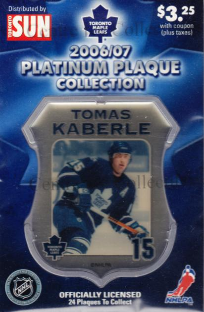 2006-07 Toronto Maple Leafs Legends Plaque Collection #6 Tomas Kaberle<br/>5 In Stock - $5.00 each - <a href=https://centericecollectibles.foxycart.com/cart?name=2006-07%20Toronto%20Maple%20Leafs%20Legends%20Plaque%20Collection%20%236%20Tomas%20Kaberle...&quantity_max=5&price=$5.00&code=533350 class=foxycart> Buy it now! </a>