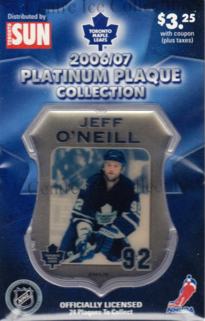 2006-07 Toronto Maple Leafs Legends Plaque Collection #12 Jeff O'Neill<br/>3 In Stock - $5.00 each - <a href=https://centericecollectibles.foxycart.com/cart?name=2006-07%20Toronto%20Maple%20Leafs%20Legends%20Plaque%20Collection%20%2312%20Jeff%20O'Neill...&quantity_max=3&price=$5.00&code=533356 class=foxycart> Buy it now! </a>