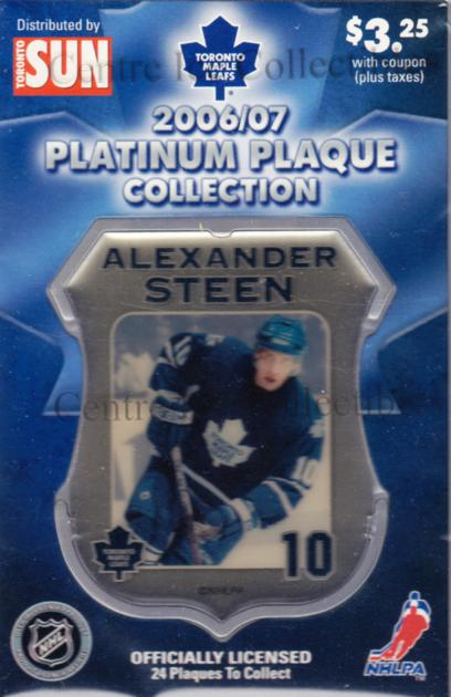 2006-07 Toronto Maple Leafs Legends Plaque Collection #18 Alexander Steen<br/>3 In Stock - $5.00 each - <a href=https://centericecollectibles.foxycart.com/cart?name=2006-07%20Toronto%20Maple%20Leafs%20Legends%20Plaque%20Collection%20%2318%20Alexander%20Steen...&quantity_max=3&price=$5.00&code=533362 class=foxycart> Buy it now! </a>