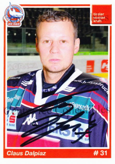 2006-07 German HC Tiroler Wasserkraft Innsbruck Die Haie #2 Claus Dalpiaz<br/>1 In Stock - $3.00 each - <a href=https://centericecollectibles.foxycart.com/cart?name=2006-07%20German%20HC%20Tiroler%20Wasserkraft%20Innsbruck%20Die%20Haie%20%232%20Claus%20Dalpiaz...&quantity_max=1&price=$3.00&code=533370 class=foxycart> Buy it now! </a>