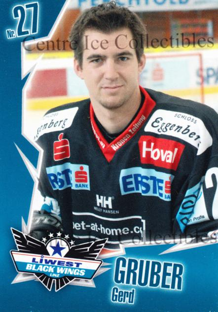 2006-07 Austrian EHC Liwest Black Wings Linz Team Issue #4 Gerd Gruber<br/>1 In Stock - $3.00 each - <a href=https://centericecollectibles.foxycart.com/cart?name=2006-07%20Austrian%20EHC%20Liwest%20Black%20Wings%20Linz%20Team%20Issue%20%234%20Gerd%20Gruber...&quantity_max=1&price=$3.00&code=533396 class=foxycart> Buy it now! </a>