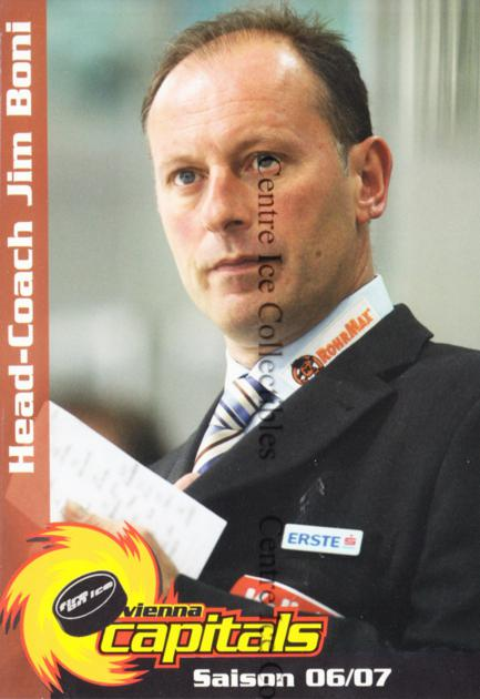 2006-07 Austrian EV Vienna Capitals Postcards #2 Jim Boni<br/>1 In Stock - $3.00 each - <a href=https://centericecollectibles.foxycart.com/cart?name=2006-07%20Austrian%20EV%20Vienna%20Capitals%20Postcards%20%232%20Jim%20Boni...&quantity_max=1&price=$3.00&code=533417 class=foxycart> Buy it now! </a>