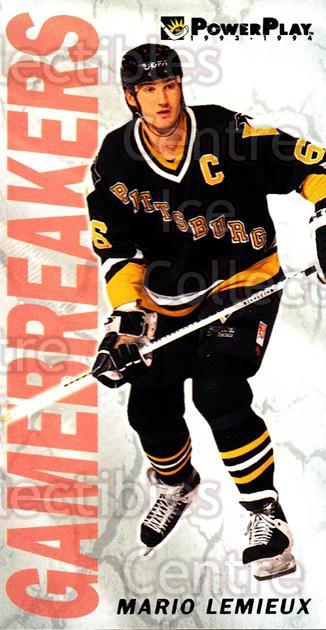 1993-94 PowerPlay Game Breakers #5 Mario Lemieux<br/>6 In Stock - $3.00 each - <a href=https://centericecollectibles.foxycart.com/cart?name=1993-94%20PowerPlay%20Game%20Breakers%20%235%20Mario%20Lemieux...&quantity_max=6&price=$3.00&code=5342 class=foxycart> Buy it now! </a>