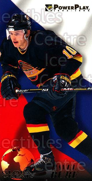 1993-94 PowerPlay Global Greats #1 Pavel Bure<br/>7 In Stock - $2.00 each - <a href=https://centericecollectibles.foxycart.com/cart?name=1993-94%20PowerPlay%20Global%20Greats%20%231%20Pavel%20Bure...&quantity_max=7&price=$2.00&code=5345 class=foxycart> Buy it now! </a>