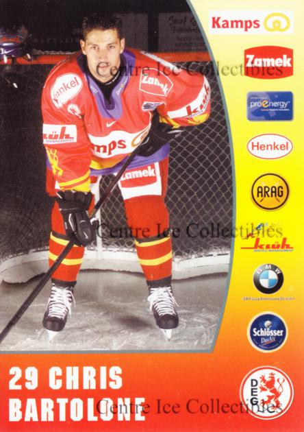 2001-02 German DEG Metro Stars Postcards #1 Chris Bartolone<br/>1 In Stock - $3.00 each - <a href=https://centericecollectibles.foxycart.com/cart?name=2001-02%20German%20DEG%20Metro%20Stars%20Postcards%20%231%20Chris%20Bartolone...&quantity_max=1&price=$3.00&code=534765 class=foxycart> Buy it now! </a>