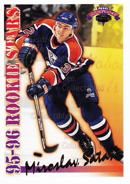 1996-97 Topps Picks Rookie Stars #12 Miroslav Satan<br/>16 In Stock - $1.00 each - <a href=https://centericecollectibles.foxycart.com/cart?name=1996-97%20Topps%20Picks%20Rookie%20Stars%20%2312%20Miroslav%20Satan...&quantity_max=16&price=$1.00&code=53476 class=foxycart> Buy it now! </a>