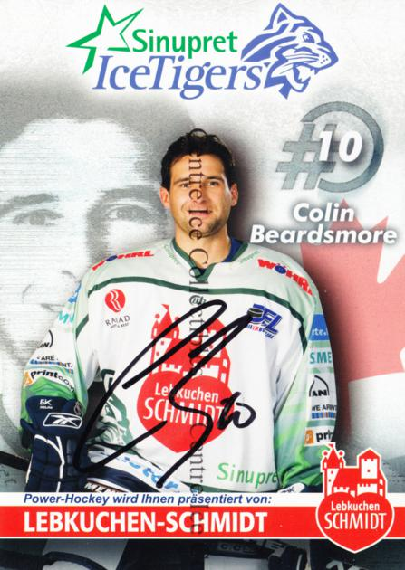 2006-07 German Sinupret Ice Tigers Postcards #2 Colin Beardsmore<br/>1 In Stock - $3.00 each - <a href=https://centericecollectibles.foxycart.com/cart?name=2006-07%20German%20Sinupret%20Ice%20Tigers%20Postcards%20%232%20Colin%20Beardsmor...&quantity_max=1&price=$3.00&code=534837 class=foxycart> Buy it now! </a>