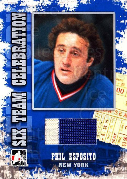 2007 Fall Expo Six Team Celebration #23 Phil Esposito<br/>1 In Stock - $20.00 each - <a href=https://centericecollectibles.foxycart.com/cart?name=2007%20Fall%20Expo%20Six%20Team%20Celebration%20%2323%20Phil%20Esposito...&quantity_max=1&price=$20.00&code=534931 class=foxycart> Buy it now! </a>