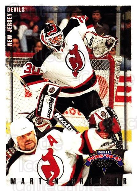 1996-97 Topps Picks #27 Martin Brodeur<br/>1 In Stock - $2.00 each - <a href=https://centericecollectibles.foxycart.com/cart?name=1996-97%20Topps%20Picks%20%2327%20Martin%20Brodeur...&price=$2.00&code=53543 class=foxycart> Buy it now! </a>