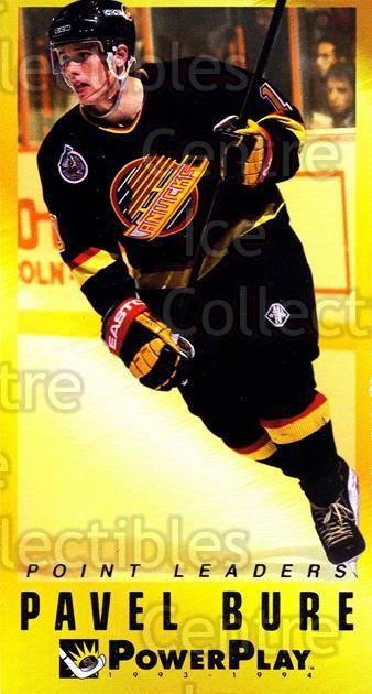 1993-94 PowerPlay Point Leaders #1 Pavel Bure<br/>17 In Stock - $2.00 each - <a href=https://centericecollectibles.foxycart.com/cart?name=1993-94%20PowerPlay%20Point%20Leaders%20%231%20Pavel%20Bure...&quantity_max=17&price=$2.00&code=5357 class=foxycart> Buy it now! </a>