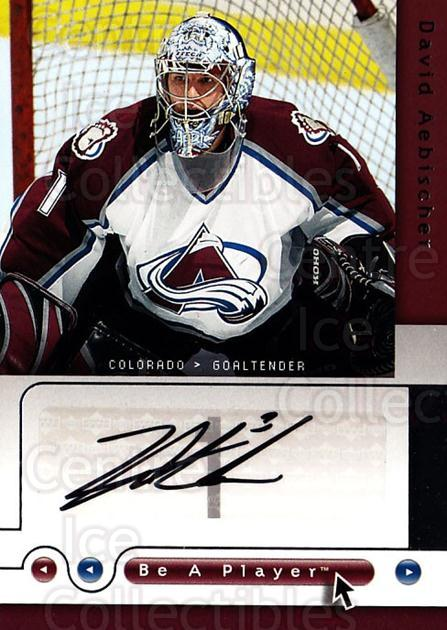 2005-06 Be A Player Signatures #AE David Aebischer<br/>1 In Stock - $5.00 each - <a href=https://centericecollectibles.foxycart.com/cart?name=2005-06%20Be%20A%20Player%20Signatures%20%23AE%20David%20Aebischer...&quantity_max=1&price=$5.00&code=536404 class=foxycart> Buy it now! </a>
