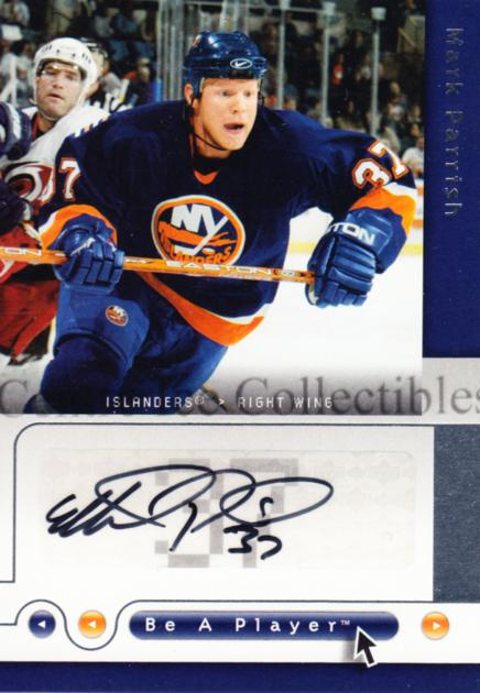 2005-06 Be A Player Signatures #MP Mark Parrish<br/>1 In Stock - $5.00 each - <a href=https://centericecollectibles.foxycart.com/cart?name=2005-06%20Be%20A%20Player%20Signatures%20%23MP%20Mark%20Parrish...&quantity_max=1&price=$5.00&code=536499 class=foxycart> Buy it now! </a>