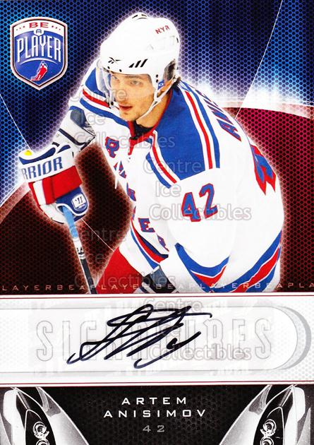 2009-10 Be A Player Signatures #SAN Artem Anisimov<br/>1 In Stock - $5.00 each - <a href=https://centericecollectibles.foxycart.com/cart?name=2009-10%20Be%20A%20Player%20Signatures%20%23SAN%20Artem%20Anisimov...&quantity_max=1&price=$5.00&code=537067 class=foxycart> Buy it now! </a>