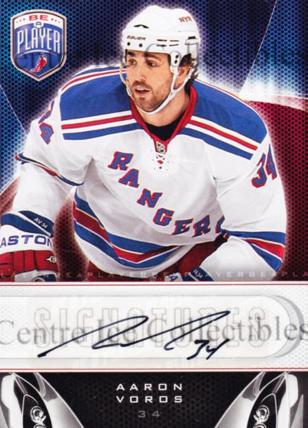 2009-10 Be A Player Signatures #SAV Aaron Voros<br/>2 In Stock - $5.00 each - <a href=https://centericecollectibles.foxycart.com/cart?name=2009-10%20Be%20A%20Player%20Signatures%20%23SAV%20Aaron%20Voros...&quantity_max=2&price=$5.00&code=537068 class=foxycart> Buy it now! </a>