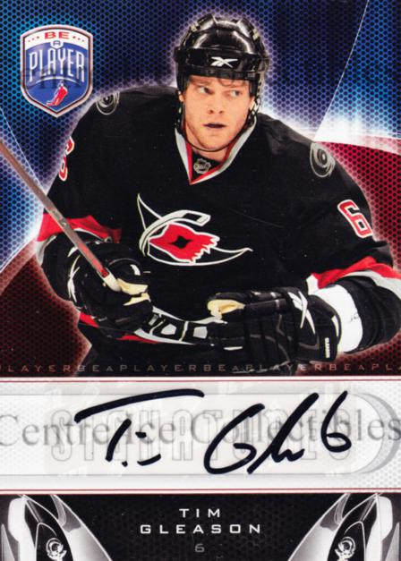 2009-10 Be A Player Signatures #STG Tim Gleason<br/>3 In Stock - $5.00 each - <a href=https://centericecollectibles.foxycart.com/cart?name=2009-10%20Be%20A%20Player%20Signatures%20%23STG%20Tim%20Gleason...&quantity_max=3&price=$5.00&code=537233 class=foxycart> Buy it now! </a>