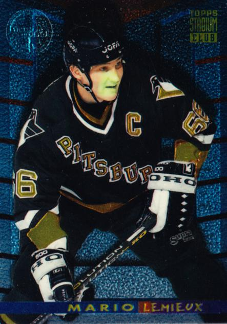 1994-95 Stadium Club Finest Inserts Members Only #1 Mario Lemieux<br/>1 In Stock - $15.00 each - <a href=https://centericecollectibles.foxycart.com/cart?name=1994-95%20Stadium%20Club%20Finest%20Inserts%20Members%20Only%20%231%20Mario%20Lemieux...&quantity_max=1&price=$15.00&code=537889 class=foxycart> Buy it now! </a>