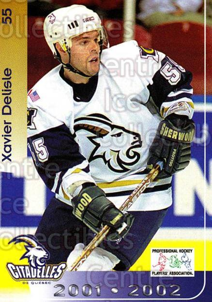2001-02 Quebec Citadelles #25 Xavier Delisle<br/>1 In Stock - $3.00 each - <a href=https://centericecollectibles.foxycart.com/cart?name=2001-02%20Quebec%20Citadelles%20%2325%20Xavier%20Delisle...&quantity_max=1&price=$3.00&code=537974 class=foxycart> Buy it now! </a>