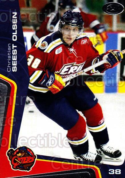 2005-06 Erie Otters #10 Christian Seest Olsen<br/>9 In Stock - $3.00 each - <a href=https://centericecollectibles.foxycart.com/cart?name=2005-06%20Erie%20Otters%20%2310%20Christian%20Seest...&price=$3.00&code=538088 class=foxycart> Buy it now! </a>