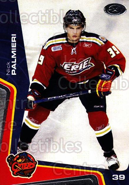 2005-06 Erie Otters #11 Nick Palmieri<br/>2 In Stock - $3.00 each - <a href=https://centericecollectibles.foxycart.com/cart?name=2005-06%20Erie%20Otters%20%2311%20Nick%20Palmieri...&price=$3.00&code=538089 class=foxycart> Buy it now! </a>