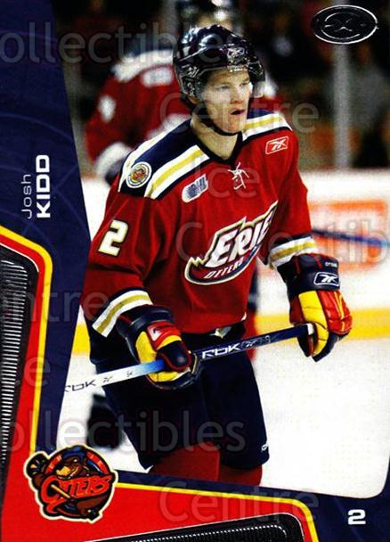 2005-06 Erie Otters #16 Josh Kidd<br/>9 In Stock - $3.00 each - <a href=https://centericecollectibles.foxycart.com/cart?name=2005-06%20Erie%20Otters%20%2316%20Josh%20Kidd...&price=$3.00&code=538094 class=foxycart> Buy it now! </a>