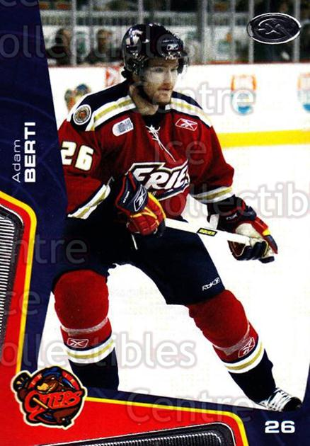 2005-06 Erie Otters #20 Adam Berti<br/>9 In Stock - $3.00 each - <a href=https://centericecollectibles.foxycart.com/cart?name=2005-06%20Erie%20Otters%20%2320%20Adam%20Berti...&price=$3.00&code=538098 class=foxycart> Buy it now! </a>