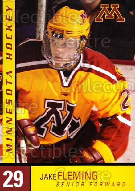 2004-05 Minnesota Golden Gophers #5 Jake Fleming<br/>7 In Stock - $3.00 each - <a href=https://centericecollectibles.foxycart.com/cart?name=2004-05%20Minnesota%20Golden%20Gophers%20%235%20Jake%20Fleming...&quantity_max=7&price=$3.00&code=538271 class=foxycart> Buy it now! </a>