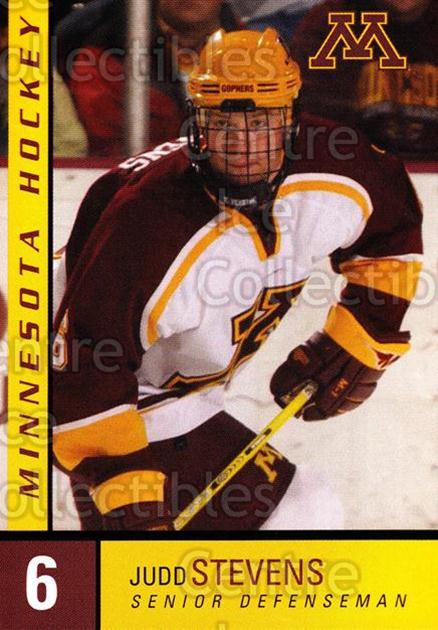 2004-05 Minnesota Golden Gophers #25 Judd Stevens<br/>7 In Stock - $3.00 each - <a href=https://centericecollectibles.foxycart.com/cart?name=2004-05%20Minnesota%20Golden%20Gophers%20%2325%20Judd%20Stevens...&quantity_max=7&price=$3.00&code=538291 class=foxycart> Buy it now! </a>