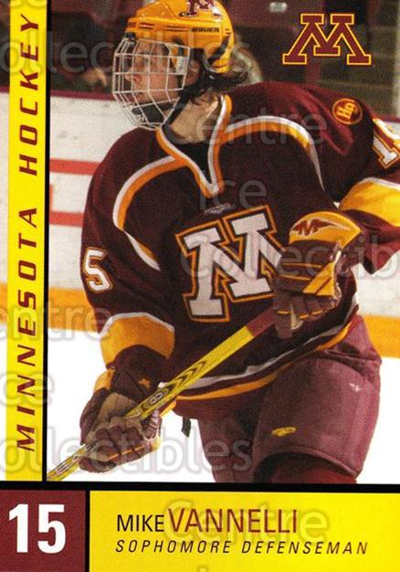 2004-05 Minnesota Golden Gophers #27 Mike Vannelli<br/>3 In Stock - $3.00 each - <a href=https://centericecollectibles.foxycart.com/cart?name=2004-05%20Minnesota%20Golden%20Gophers%20%2327%20Mike%20Vannelli...&quantity_max=3&price=$3.00&code=538293 class=foxycart> Buy it now! </a>