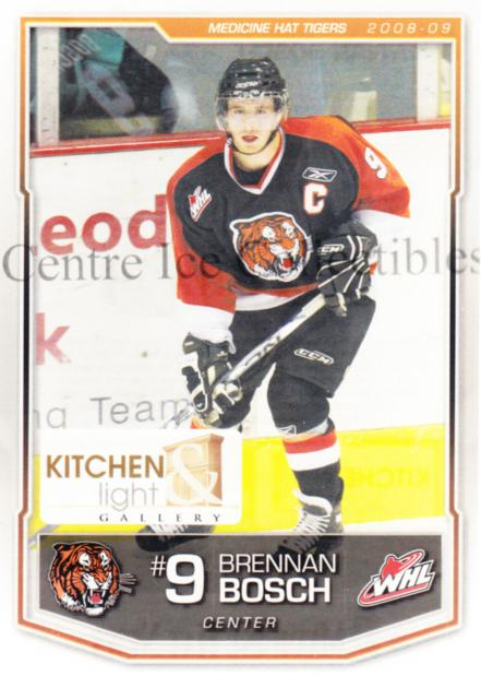 2008-09 Medicine Hat Tigers #1 Brennan Bosch<br/>1 In Stock - $3.00 each - <a href=https://centericecollectibles.foxycart.com/cart?name=2008-09%20Medicine%20Hat%20Tigers%20%231%20Brennan%20Bosch...&quantity_max=1&price=$3.00&code=538325 class=foxycart> Buy it now! </a>