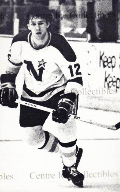 1979-80 Minnesota North Stars Postcards #4 Mike Fidler<br/>1 In Stock - $5.00 each - <a href=https://centericecollectibles.foxycart.com/cart?name=1979-80%20Minnesota%20North%20Stars%20Postcards%20%234%20Mike%20Fidler...&price=$5.00&code=538434 class=foxycart> Buy it now! </a>