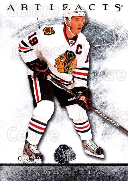 2012-13 UD Artifacts #44 Jonathan Toews<br/>4 In Stock - $2.00 each - <a href=https://centericecollectibles.foxycart.com/cart?name=2012-13%20UD%20Artifacts%20%2344%20Jonathan%20Toews...&quantity_max=4&price=$2.00&code=538495 class=foxycart> Buy it now! </a>