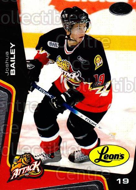 2005-06 Owen Sound Attack #15 Joshua Bailey<br/>3 In Stock - $3.00 each - <a href=https://centericecollectibles.foxycart.com/cart?name=2005-06%20Owen%20Sound%20Attack%20%2315%20Joshua%20Bailey...&quantity_max=3&price=$3.00&code=538749 class=foxycart> Buy it now! </a>