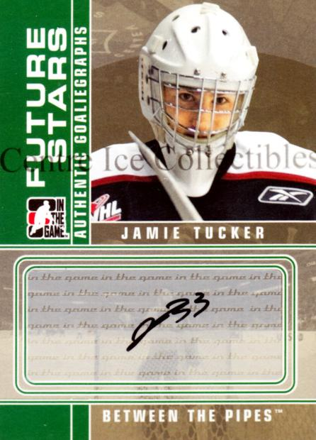2008-09 Between The Pipes Auto #AJT Jamie Tucker<br/>1 In Stock - $5.00 each - <a href=https://centericecollectibles.foxycart.com/cart?name=2008-09%20Between%20The%20Pipes%20Auto%20%23AJT%20Jamie%20Tucker...&quantity_max=1&price=$5.00&code=539067 class=foxycart> Buy it now! </a>