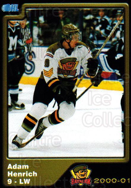 2000-01 Brampton Battalion #10 Adam Henrich<br/>1 In Stock - $3.00 each - <a href=https://centericecollectibles.foxycart.com/cart?name=2000-01%20Brampton%20Battalion%20%2310%20Adam%20Henrich...&price=$3.00&code=539120 class=foxycart> Buy it now! </a>