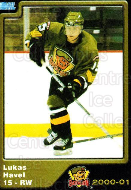 2000-01 Brampton Battalion #14 Lukas Havel<br/>4 In Stock - $3.00 each - <a href=https://centericecollectibles.foxycart.com/cart?name=2000-01%20Brampton%20Battalion%20%2314%20Lukas%20Havel...&price=$3.00&code=539124 class=foxycart> Buy it now! </a>