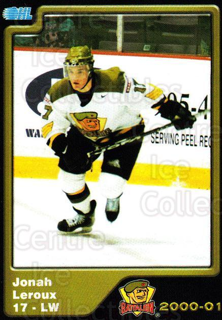 2000-01 Brampton Battalion #15 Jonah Leroux<br/>3 In Stock - $3.00 each - <a href=https://centericecollectibles.foxycart.com/cart?name=2000-01%20Brampton%20Battalion%20%2315%20Jonah%20Leroux...&price=$3.00&code=539125 class=foxycart> Buy it now! </a>